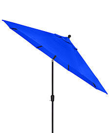 CLOSEOUT! Highland Blue Outdoor 9' Auto-Tilt Umbrella with Sunbrella® Fabric, Created For Macy's
