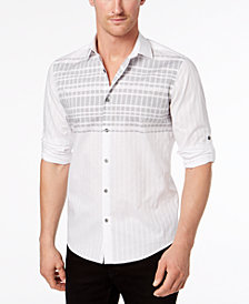 Alfani Men's Linear Stripe Shirt, Created for Macy's