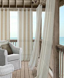 """Elrene Bali Sheer 52"""" x 108"""" Indoor/Outdoor Curtain Panel with Tieback"""