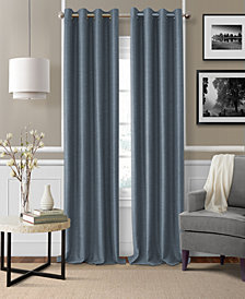 "Elrene Brooke 52"" x 84"" Faux-Silk Blackout Grommet Curtain Panel"