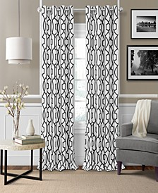 Celeste Textured Ironwork Blackout Grommet Curtain Panels