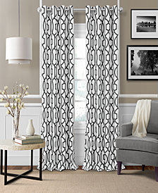 Elrene Celeste Textured Ironwork Blackout Grommet Curtain Panels