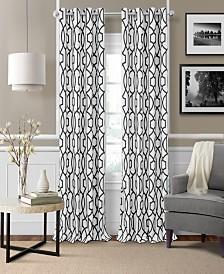 Elrene Celeste Textured Ironwork Blackout Grommet Curtain Panels