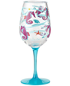 Enesco Lolita Seahorse 2-Pc. Wine Glass Set