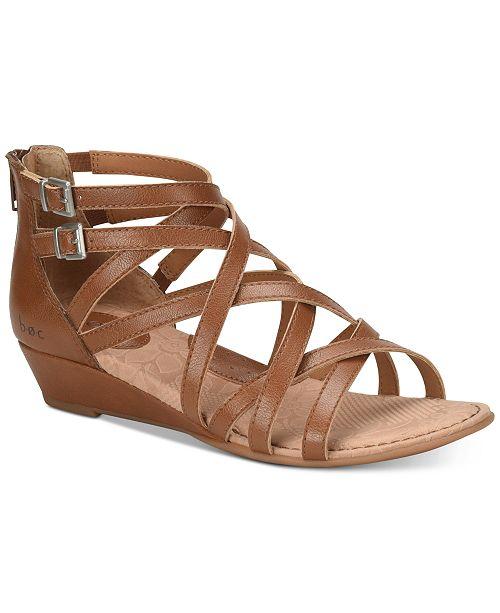 87fc08867106 b.o.c. Mimi Wedge Sandals   Reviews - Sandals   Flip Flops - Shoes ...