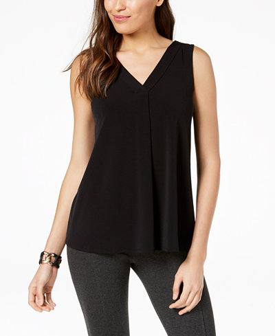 Alfani Draped V-Neck Top, Created for Macy's