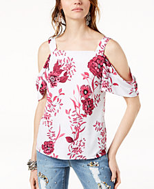 I.N.C. Petite Cold-Shoulder Top, Created for Macy's