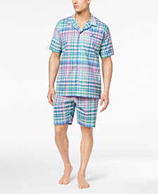 Polo Ralph Lauren Men's Woven Plaid Pajama Shirt & Shorts