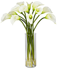 Nearly Natural Mini Calla Lily Flower Arrangement
