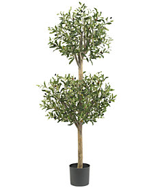 Nearly Natural 4.5' Olive Double Topiary Tree