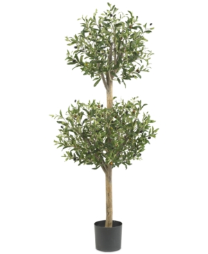 Nearly Natural 45 Olive Double Topiary Tree