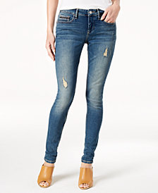 Calvin Klein Jeans Ripped Curvy-Fit Jeans