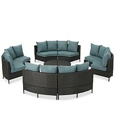 Montega Outdoor 10-Pc. Sofa Set, Quick Ship