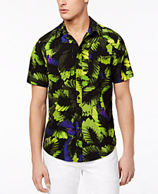 GUESS Men's Neon Palm Shirt