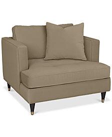 """Jennova 41"""" Fabric Armchair - Custom Colors, Created For Macy's"""