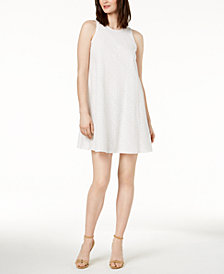Calvin Klein Cotton Eyelet Trapeze Dress