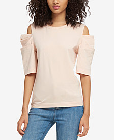 DKNY Cold-Shoulder Top, Created for Macy's