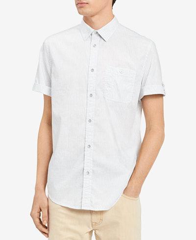 Calvin Klein Jeans Men's Wavy Stripe Work Shirt