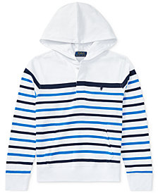Polo Ralph Lauren Striped Cotton Hoodie, Big Boys