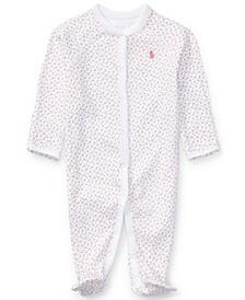 폴로 랄프로렌 여아용 잠옷 Polo Ralph Lauren  Baby Girls Print Coverall,Delicate Pink