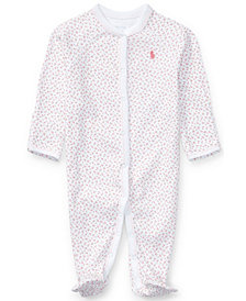 Ralph Lauren Print Coverall, Baby Girls