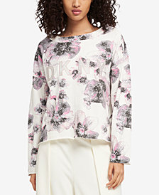 DKNY Printed Embellished-Graphic Sweatshirt, Created for Macy's