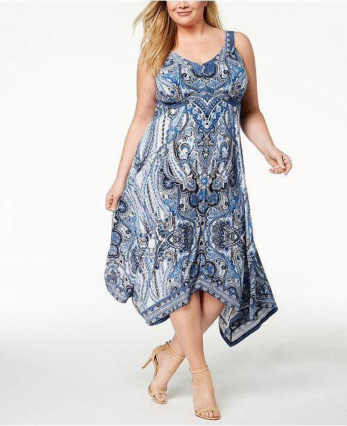 INC International Concepts I.N.C. Plus Size Printed ...