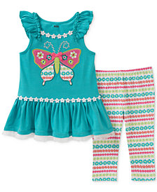 Kids Headquarters 2-Pc. Graphic-Print Tunic & Leggings Set, Baby Girls