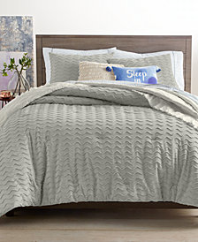 CLOSEOUT! Whim by Martha Stewart Collection Chevron Chenille 3-Pc. Full/Queen Comforter Set, Created for Macy's