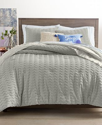 Martha Stewart Collection Closeout Chevron Chenille Comforter Sets