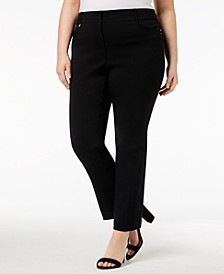 Plus & Petite Plus Size Tummy Control Curvy-Fit Pants, Created for Macy's