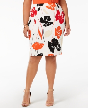 Kasper Plus Size Printed...