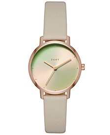 Women's Modernist Gray Leather Strap Watch 32mm, Created for Macy's
