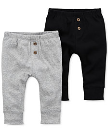 Carter's 2-Pk. Cotton Jogger Pants, Baby Boys
