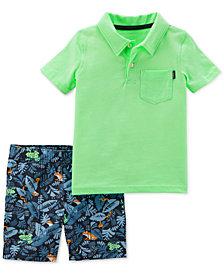 Carter's 2-Pc. Polo & Printed Shorts Set, Baby Boys