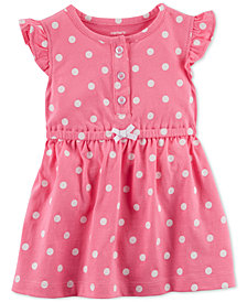 Carter's Baby Girls Dot-Print Cotton Sundress