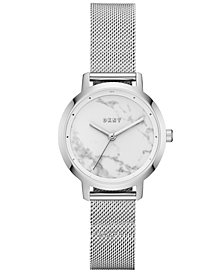DKNY Women's Modernist Stainless Steel Mesh Bracelet Watch 32mm, Created for Macy's