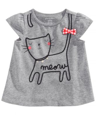 Graphic Cotton T-Shirt, Baby Girls, Created for Macy's