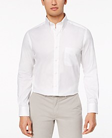 Men's Performance Wrinkle-Resistant Pinpoint Solid Dress Shirt, Created for Macy's