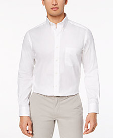 Club Room Men's Performance Wrinkle-Resistant Pinpoint Solid Dress Shirt, Created for Macy's
