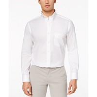Club Room Men's Performance Wrinkle-Resistant Pinpoint Solid Dress Shirt