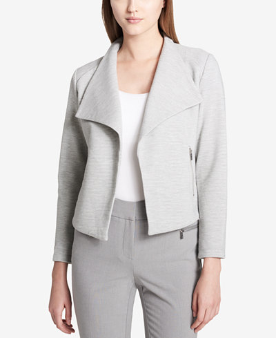 Calvin Klein Ribbed Open-Front Jacket