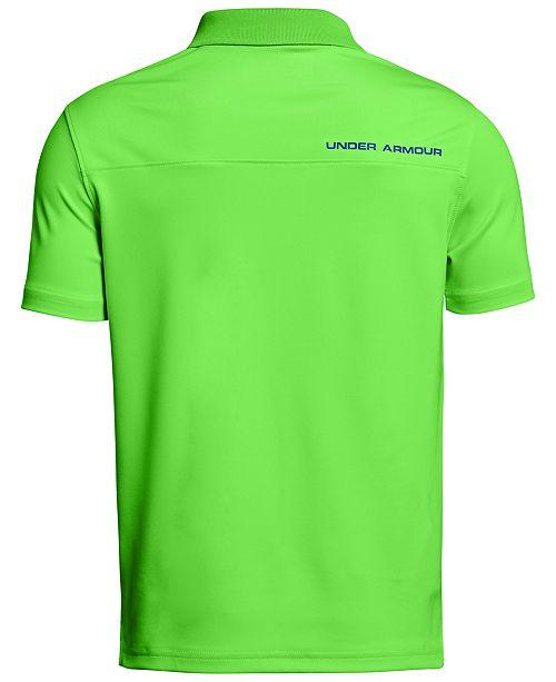 26ee129b6 Under Armour Performance Polo Shirt, Big Boys & Reviews - Shirts ...
