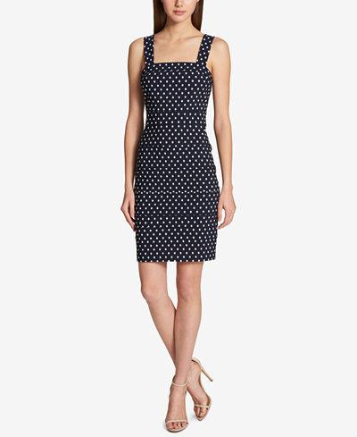 Tommy Hilfiger Dot-Print Sheath Dress