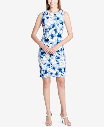 Calvin Klein Printed Sheath Dress