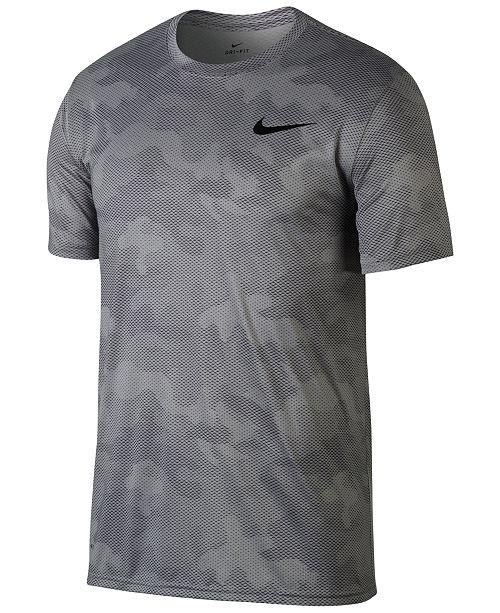 56fdec4e7faf Nike Men s Dry Legend Camo-Print Training T-Shirt   Reviews - T ...