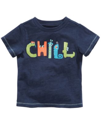 Chill-Print Cotton T-Shirt, Baby Boys, Created for Macy's