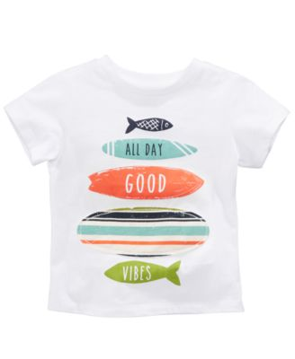 Surfboard-Print Cotton T-Shirt, Baby Boys, Created for Macy's