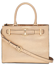 Calvin Klein Faye Leather Satchel