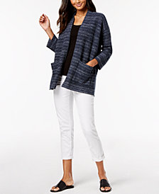 Eileen Fisher Cardigan and Cuffed Jeans, Regular & Petite